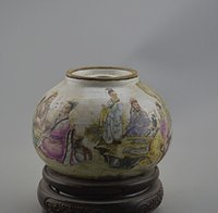 bamboo furnishings - Pastel People Republic of China Bamboo Grove antique flea Figure warm kettle Jingdezhen porcelain collection of antique furnishings