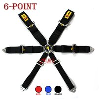 Wholesale 3 inches point quick release Universal JDM Car Auto Racing Sport Seat Belt Safety Harness Strap BLACK BLUE RED