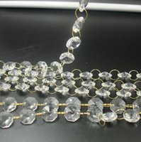 Wholesale 50m glass bead strand with gold ring Event Party Supplies DIY Christmas party decor accessory