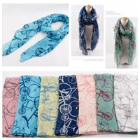 Wholesale 2014 New Bike Printed Scarves for Women New Brand Hot Sale Bicycle Scarf