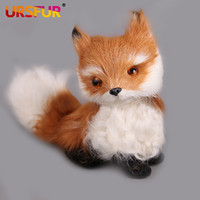 arctic crafts - Plush Doll Toy Simulation Animal Fox Plush Jing Toy Piece Fox pet crafts fox arctic fox feng shui decoration birthday gift girls
