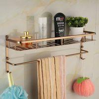 aluminum pallets - cm length Antique Wall Mounted Space Aluminum Pallet Hook Bathroom Shelf Bathroom Accessories Towel Bar F