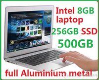 Wholesale 14 quot ultrabook aluminium inch laptops intel Celeron U Dual core GB RAM GB ssd gb High Quality cheap DHL