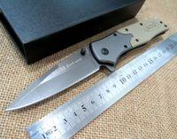 Tête rapide Avis-Couteau pliant SOG FA02 Ouverture rapide 5 cr13 G10 + tête en acier 56HRC couteau de combat couteaux de combat couteau de combat + couleurs désert