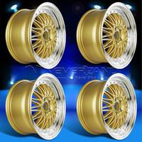 Wholesale 4PC Set for LEXUS IS250 IS300 GS300 GS400 SC400 SC430 Offset x Car Alloy Wheels Rim Gold Machined Lip