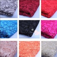 Wholesale Hot New Tops High Quality Water Soluble D African Lace Venice Lace Fabrics Wedding Dress Fabrics