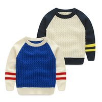 baby block decoration - Baby color block decoration sweater autumn male children s pullover sweater