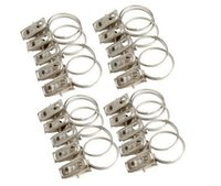 Wholesale 40pcs of Stainless Steel Window Shower Curtain Rod Clips Rings Drapery Clips z1672