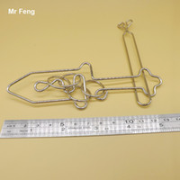 Wholesale High Difficult Sword Metal Wire Ring Puzzle Game Intelligence Training Toys For Adult