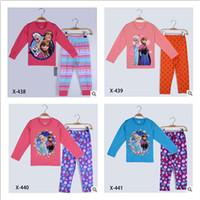 Cheap New Frozen Princess Children's Clothing Sets,Cut Cartoon Girls Pajama Sets,Toddler Baby kids Pijama Sleepwear Suit Anna Elsa Princess Pajama