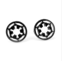 Wholesale Mosu Star Wars Cufflinks For Mens Round Pattern Fashion Jewelry Silver Black Color Hot Sale Men Jewelry Cuff Links Gift