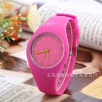 ice watches - Watches For Men Spot Colourful Rubber Geneva silica gel thin colored jelly table student leisure table ICE watches for Womens