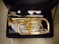 baritone horn music - best music Hot Fashion super baritone horn tuba Bb key nice sound with case in stock