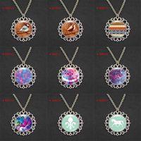 horse jewelry - Bird Wood Aztec Dream Catcher Horse Fleur de lis Pendant Necklaces Nebula Galaxy Constellation Universe Alloy Girls Women Men jewelry mm