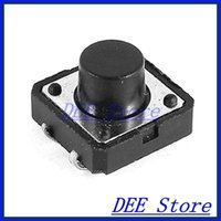 Wholesale mmx12mmx8mm Pins DIP Square Miniature Momentary Tactile Push Button Switch