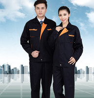 Wholesale Spring and autumn long sleeve work wear set male and fermale protective clothing worker uniform