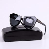 retro sunglasses - Karen Walker Sunglasses One Meadow Arrow Women Hot cateye Shades Brand Eyewear New Driving Retro Vintage uv400 Men s Polaroid Glasses