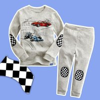 Wholesale New Racing Driver Baby Boys Kids Cartoon Cars Sleepwear Pajamas Set Y