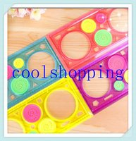 drawing ruler - DHL Freeshipping Creative Student straight Ruler Plastic Spirograph Ruler Drawing ruler