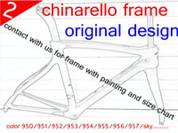 carbon - New arrivel chinarello full carbon road bike bicycle frame sky color