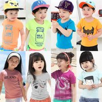 Wholesale boys clothes girls t shirts Baby Round collar Short Sleeve Crew Neck Summer Cotton Top Kids Tshirt costume clothing T shirt
