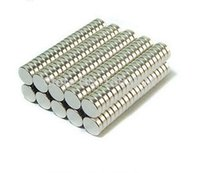 Wholesale 100pcs mm x mm Super Strong Round Rare Earth Neodymium Cylinder Magnets N35