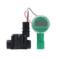 automatic water valve timer - Automatic Electromagnetic Valve Timer Controller Battery Operated Garden Irrigation Home Watering Device