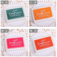 Wholesale Chic Child Craft Oil Based DIY Ink Pad Rubber Stamps Fabric Wood Paper Scrapbooking Colors Inkpad