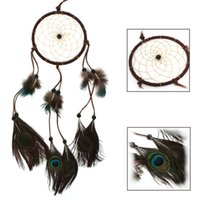 Wholesale 2015 New Stylish Dream Catcher With Feathers Wall Hanging Decoration Ornament Decorate For Car Home House Gifts