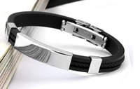 Wholesale New Arrival Fashion Jewelry Charming Arrival Fashion Black Men Bracelet Bangles Jewelry Cuff Stainless