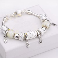 Wholesale new fashion jewelry Fashion Jewelry Sterling Silver charm Bracelets Bangles for women European Beads bracelet