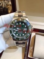 Wholesale Luxury Top Quality AAA Wristwatch Swiss Eta Movement Sub Green Dial Ceramic Sapphire Glass Automatic Mens Watch Men s Watches