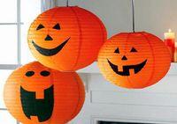 Halloween lanterne citrouille lampe Nuit Light Bar scène décoration Jack Lantern pouvez accrocher citrouille lanterne de papier