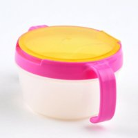 Wholesale Fashion Creative Baby Snack Cup Chlidren Kids Cute Candy Color Protable Double Handle Biscuits Cup