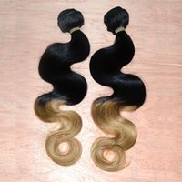 Cheap 2016 Hot Selling Peruvian Human Hair Extensions Two Tone Ombre Color Body Wave Machine Double Wefts Peruvian 100g More Thicker Hair Weaving