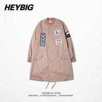 baseball scarf - 2015 autumn winter Jackets men fashion hip hop long coats vintage baseball jackets khaki trench GD