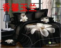 Wholesale 2015 TOP sale Queen Size Pure cotton reactive print d bedding sets Beautiful flowers print
