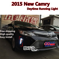 Cheap Free shipping Car Styling 2015 Camry DRL Toyota Camry LED Daytime Running Light with turn signal Camry LED driving fog lamp