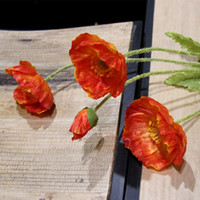 artificial poppies - MEIHON Artificial flowers poppy poppies rustic home decoration flowers Silk flowers