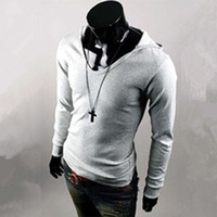 cozy - New Hooded T Shirts Men Clothing Long Sleeve Pullover Slim Casual Youth T Shirts Autumn Man Clothes Soft Cozy Large Size M XL