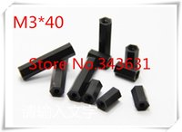 Wholesale 100pcs M3 M3 X Black nylon standoff Spacer Female to Female Thread M35