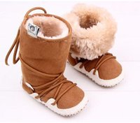 Wholesale winter soft warm shoes baby boots new born baby walker winter wram baby boot