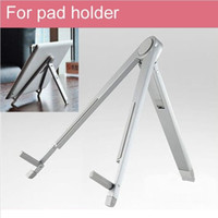 Wholesale Universal Portable Foldable Holder Stand for Apple iPad for Galaxy Tab Xoom Tablet mini PC Accessories Silvery