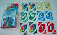 Wholesale Novelty Gift Transparent Waterproof UNO H2O Card Board Game Playing Card Family For Fun A5