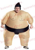 Wholesale Hot Sale Funny Unisex Adult Costume For Halloween Inflatable Blown Up Sumo Wrestling Suits One Size Carnival Parade Costumes