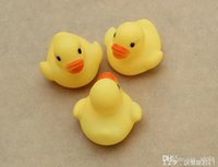 baby gift sets bath toy - Baby Bath Water Toy toys Sounds Yellow Rubber Ducks Kids Bathe Children Swiming Beach Gifts