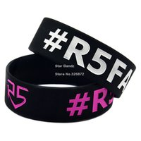 Wholesale Hot Sell PC R5 Family Silicone Wristband Bracelet For Music Concert Great To Used In Any Benefits Gift For Music Fans