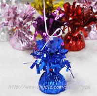 balloon clips - Aluminum helium balloon pendant bearing balloon clip balloon auto lock clip balloon Metallic Balloon Weights Assorted Color
