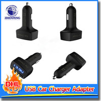 amp autos - Car Charger A USB Auto Adapter With LED Display Current Voltage Temperature Amp For Cell Phone