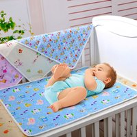 Wholesale S XL Pink Yellow Blue Cotton Portable Urine Mat Waterproof Baby Infant Bedding Changing Nappy Cover Pad